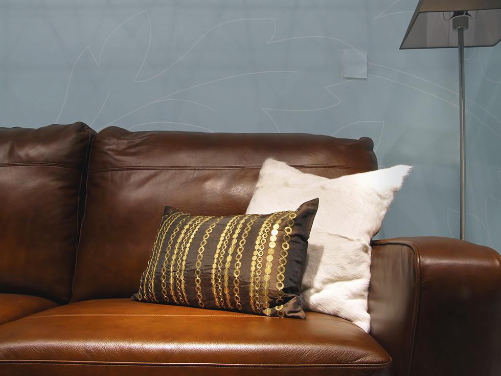 Cooper Furniture   Leather Sofa